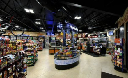 Chevron petroleum station goes green with LED lighting