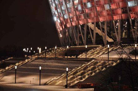 Light for the UEFA EURO stadion in Warsaw - LED modules show the way