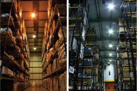 Food warehouses save cost and energy with LED lighting