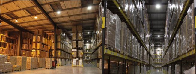 Logistics company cuts lighting costs to one third, encourages conservation and improves its work environment with LED lighting