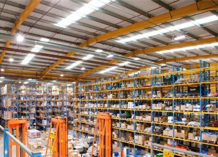 LED light installation Case Study: Industry