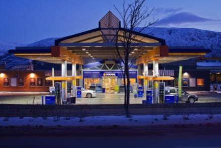 Norwegian service station adopts energy-efficient Cree LED lighting with 200-300 lux illumination