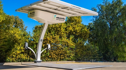 Electrify America is building solar-powered charging stations
