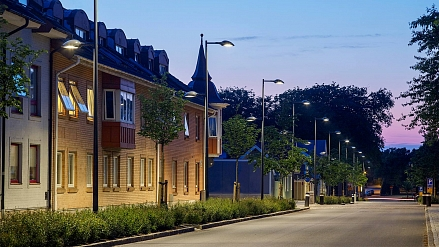 Östra Vallgatan, Varberg - Public LED lighting with emphasis on visual comfort in the centre of Varberg