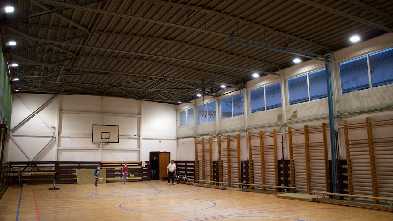 LED modernisation of the lighting system in small and big drill hall