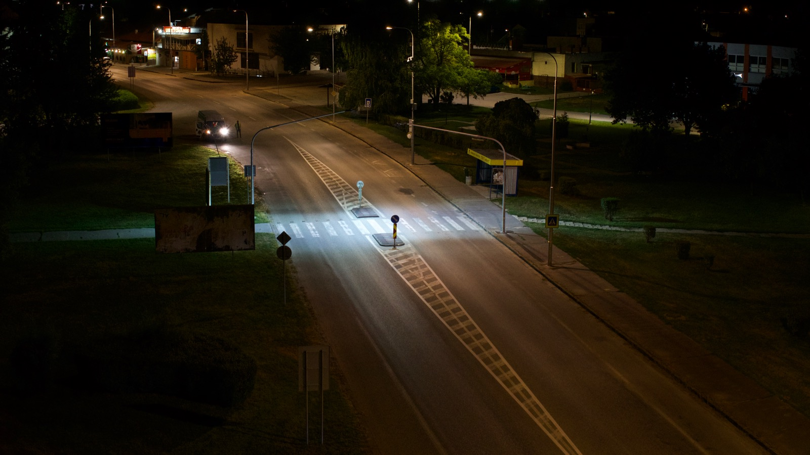 Safety lighting for crosswalks - 1st stage