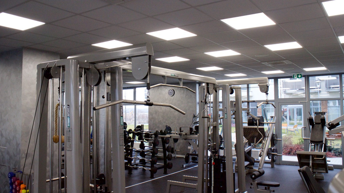 LED illuminance of fitness centrum