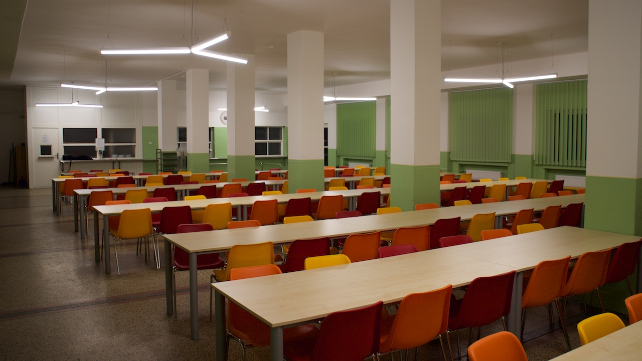 Design of new lighting system in elementary school´s canteen
